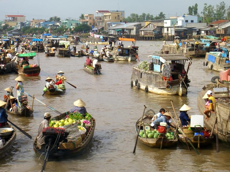 Marché flottant Cai Rang