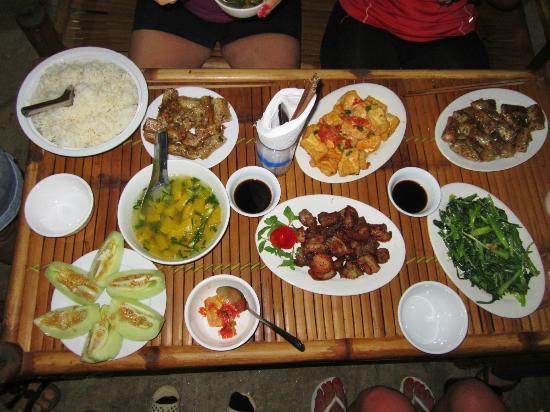 Repas chez l'habitant Mai Chau