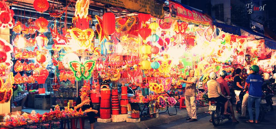 Rue des Lanternes Saigon Quartier Cholon