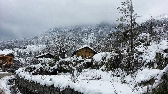 Sapa Vietnam sous la neige