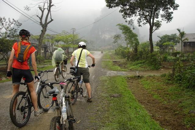 Circuit en vélo à Maichau