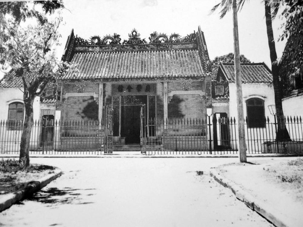 Hall de l'assemblee chinoise Hoi An en Noir et Blanc
