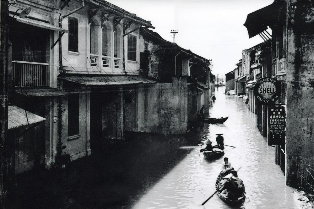 Innondation Hoi An en 1950 Hoi An en Noir et Blanc