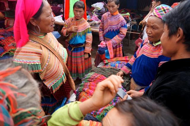 MArchandage Marché Xin Man, ou Coc Pai, Ha Giang