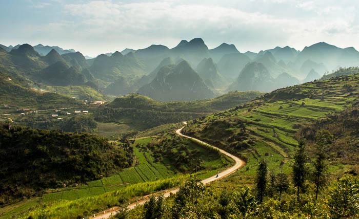 Paysages de Ha Giang en veloPaysages de Ha Giang en velo