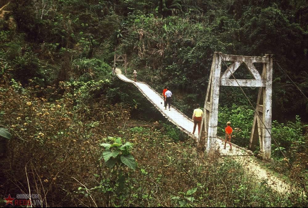 Pont suspendu Nord Vietnam