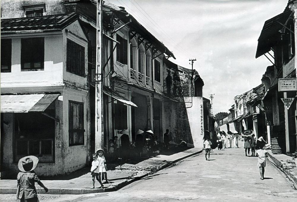 Une rue Hoi An en Noir et Blanc